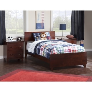 Atlantic Orlando Walnut Twin Bed with Matching Footboard