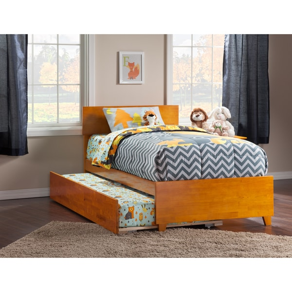 Shop atlantic orlando caramel latte twin bed with matching for Urban home beds