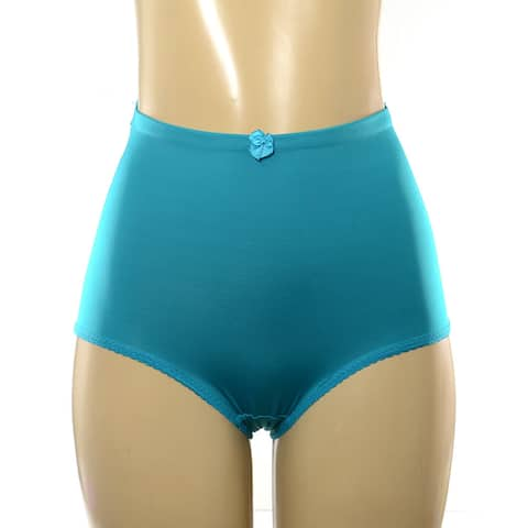 Multicolored Nylon and Spandex High-waisted Double-layered Compression Brief (Pack of 5)