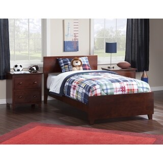 Atlantic Orlando Walnut Twin XL Bed with Matching Footboard