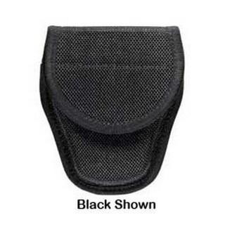 Bianchi 7300 Series AccuMold Covered Handcuff Case Hidden Snap Closure, Size 2, Black