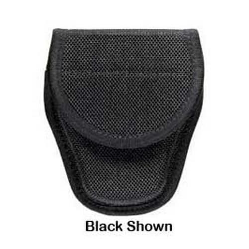 Bianchi 7300 Series AccuMold Covered Handcuff Case Hidden Snap Closure, Size 1, Black