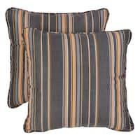 Sawyer Sunbrella Stanton Greystone Indoor/ Outdoor 20 inch Corded Pillow Set