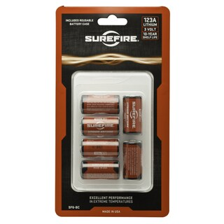 Surefire 6 SF123A Batteries With Holder In Clamsh
