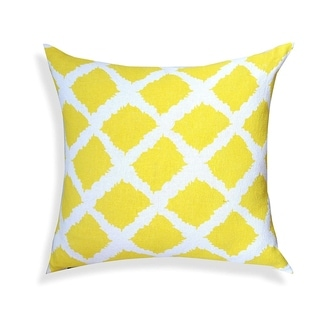 "Sunflower Yellow Print Pillow, 100% cotton, 20""x20"" Decorative Throw Pillow"