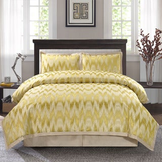 Tallilah Gold Color Jacquard 4-piece Comforter Set