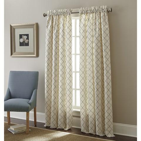 Sherry Kline Westbury Embroidered Rod Pocket 96-inche Curtain Panel Pair - 52 X 96