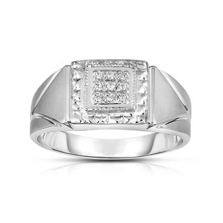 Noray Designs 14K Gold Diamond Accent Men's 9-Stone (I1-I2 Clarity, G-H Color) Ring