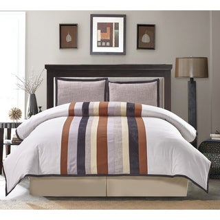 Spencer Stripe Cotton 4-piece Comforter Set