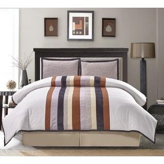Spencer Stripe Cotton 4-piece Comforter Set