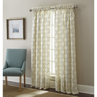 Sherry Kline Hampton Embroidered Rod Pocket 63-inch Curtain Panel Pair - 52 x 63