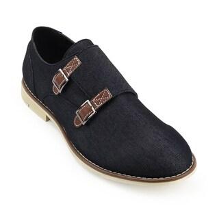 Unionbay Men's Preston Denim Monk Strap Shoe
