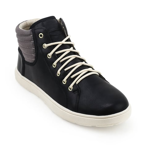 Unionbay Kickitat Vegan Leather/Canvas High Top Sneaker