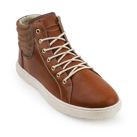 Unionbay Kickitat Vegan Leather/Canvas High Top Sneaker