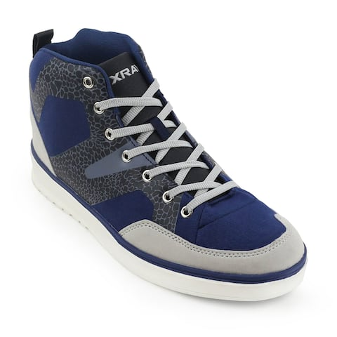 Xray Men's Ranger Blue and Black Canvas High-top Sneaker