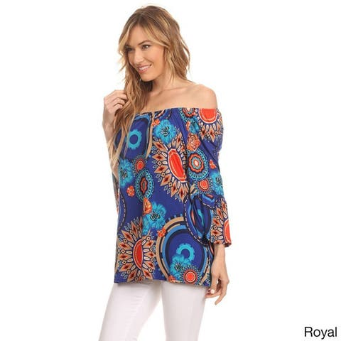 Women's Multicolored Ornate-patterned Tunic