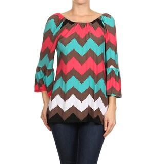 Women's Multicolored Chevron Tunic