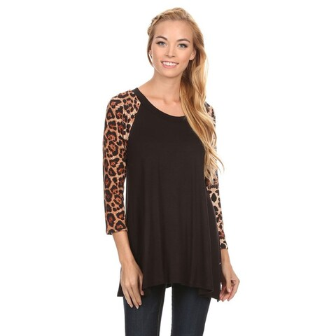Women's Animal Pattern Sleeve Tunic