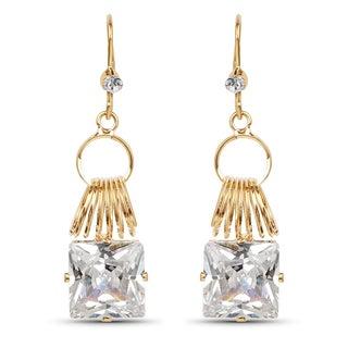 Liliana Bella Women's Goldplated White Crystal Dangle Earrings