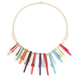 Liliana Bella Women's Goldplated Multi Color Spicks Bib Necklace