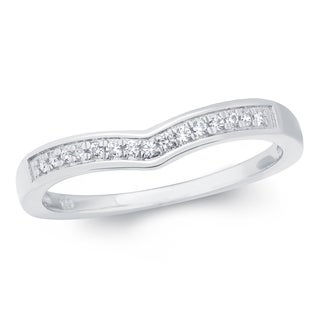 Sterling Silver 1/10ct TDW White Diamond Anniversary Band - White H-I