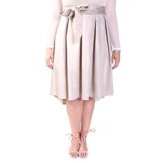 Hadari Women's Plus Size Bow Knot Asymmetrical Skirt