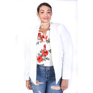 Hadari Women's Plus Size Casual Lightweight Blazer Jacket