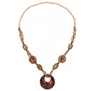 Liliana Bella Handmade Brown Beaded Round-shaped Fashion Necklace