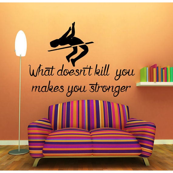 Shop Quote Pole Vaulter Decal What Doesn't Kill You Makes