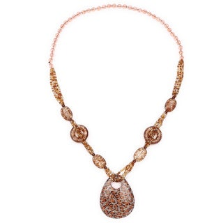 Liliana Bella Handmade Brown Beaded Fashion Necklace
