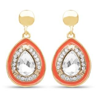 Liliana Bella Gold-plated Rhinestone Teardrop Dangle Earrings