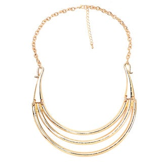 Liliana Bella Gold-plated Multi-strand Choker Necklace - White