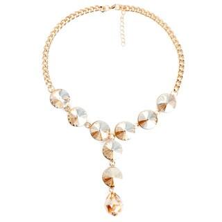 Liliana Bella Goldplated Yellow Glass Choker Necklace
