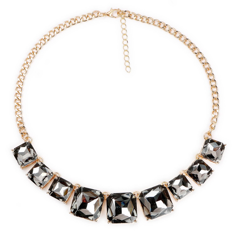 Liliana Bella Goldplated Rhinestone Choker Necklace (Blac...