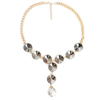 Liliana Bella Gold Plated Choker Necklace with White & Black Stone
