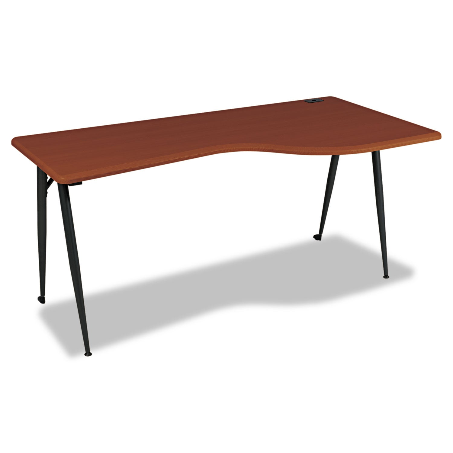 Balt iFlex Large Desk - Right - Cherry and Black