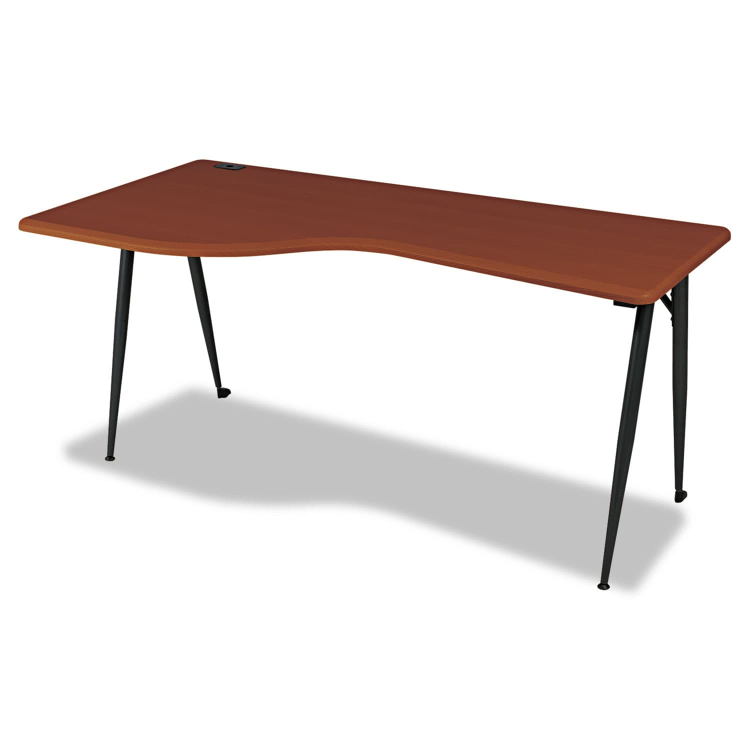 Balt iFlex Large Desk - Left - Cherry and Black