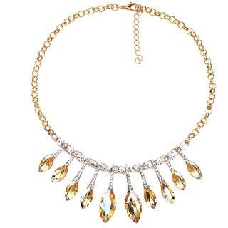 Liliana Bella Goldplated Rhinestone Bib Necklace