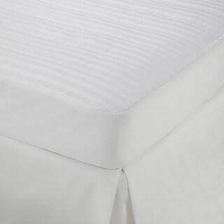 Martex Damask Stripe Mattress Pad - White