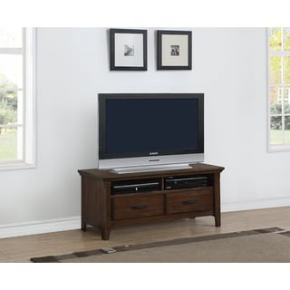 Traditional Rockwell Brown Distressed finish TV Stand