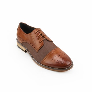 Xray Brown Leather and Polyurethane Cap Toe Shoes