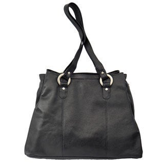 Piel Leather Three Compartment Tote Bag (3 options available)