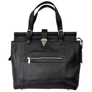 Piel Leather Leather Double Dowel Rod Shoulder Handbag