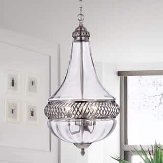 Permin Empire 13-inch Clear Glass and Metal Pendant Light|https://ak1.ostkcdn.com/images/products/14306607/P20888792.jpg?impolicy=medium