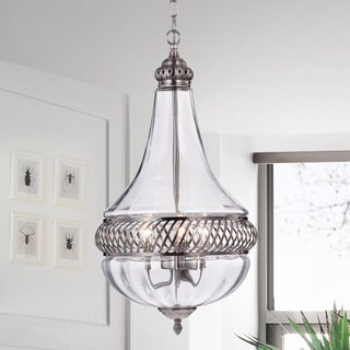Permin Empire 13-inch Clear Glass and Metal Pendant Light