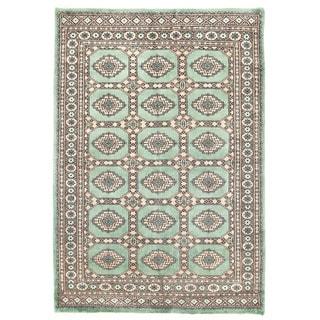 Herat Oriental Pakistani Hand-knotted Bokhara Wool Rug (4'1 x 5'9)