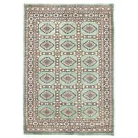 Herat Oriental Pakistani Hand-knotted Bokhara Wool Rug (4'1 x 5'9) - 4'1 x 5'9
