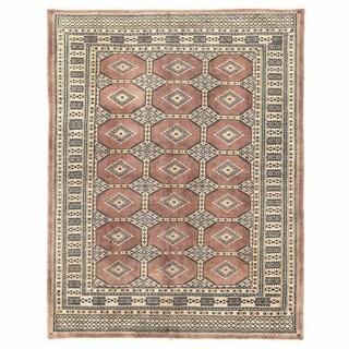 Herat Oriental Pakistani Hand-knotted Bokhara Wool Rug (4'9 x 6'2)