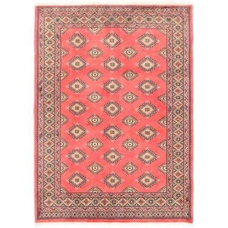 Herat Oriental Pakistani Hand-knotted Bokhara Wool Rug (4'9 x 6'8)
