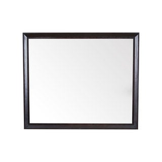 Imogen 36 x 30 Black Framed Beveled Wall Mirror